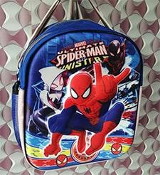 3D Spiderman Cotton Baby School Bag