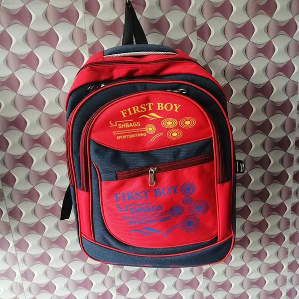 First Boy Red Color School Bag (1)